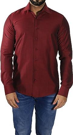 MMUGA - Camisa formal - Clásico - Manga Larga - para hombre: Amazon.es: Ropa y accesorios