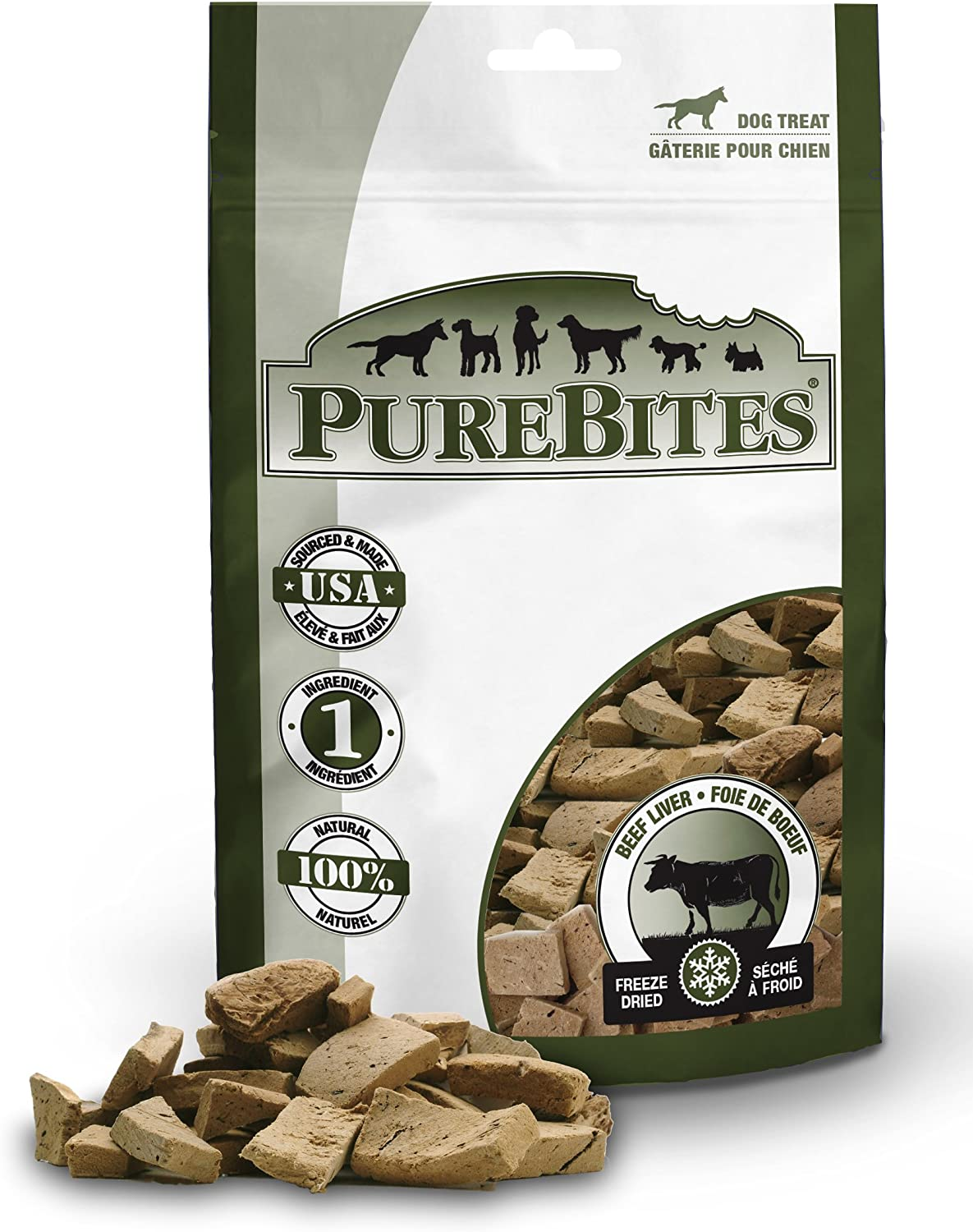Purebites Beef Liver For Dogs, 16.6Oz 470G – Super Value Size, 12 Pack