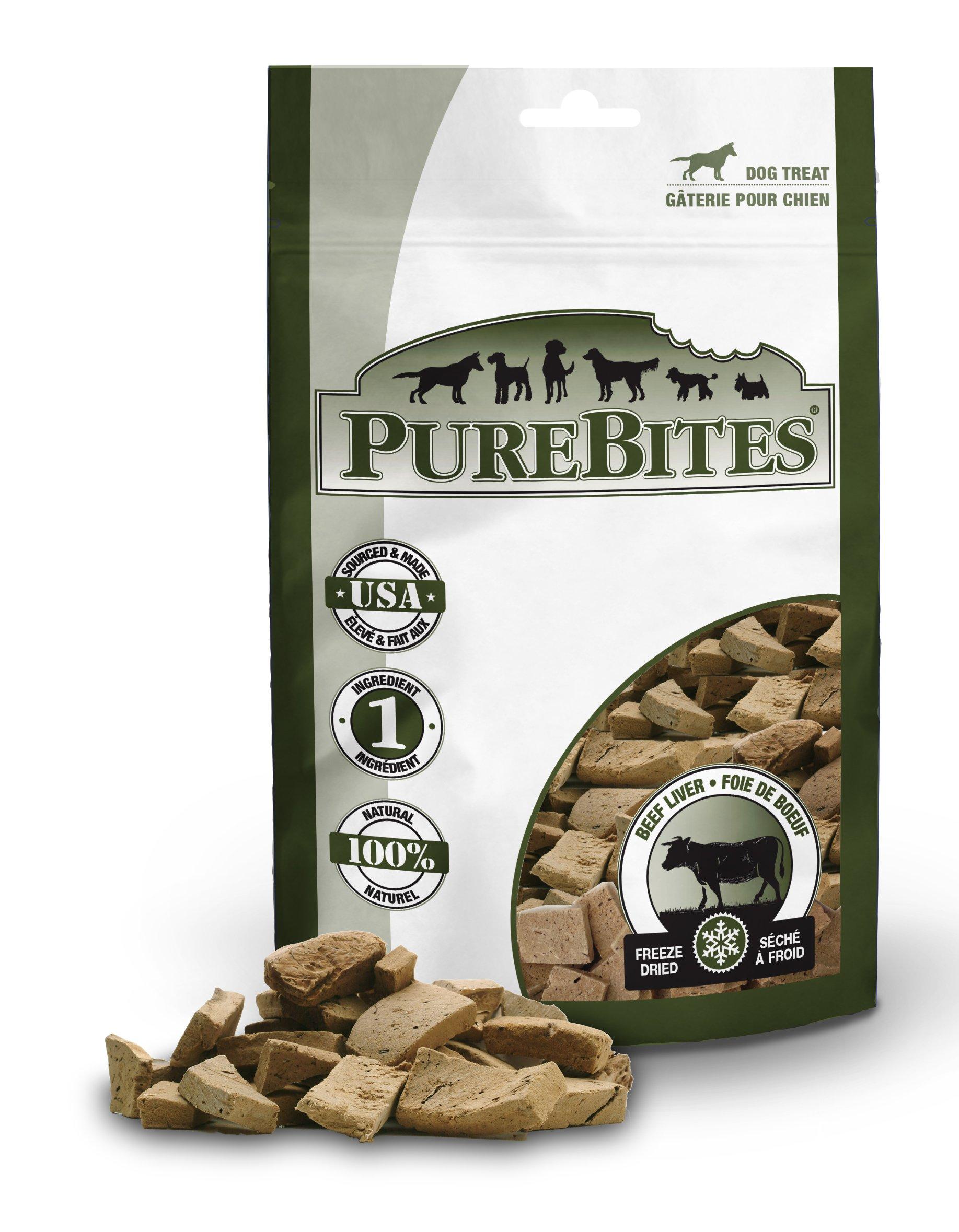PureBites Beef Liver for Dogs, 16.6oz/470g - Super Value Size