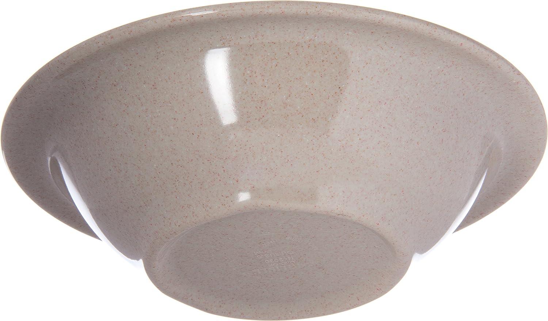 Bone Carlisle 4303242 Durus Rimmed Melamine Bowl Carlisle FoodService Products 43032-42 16 Oz. Pack of 24