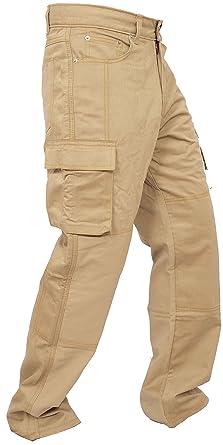 Newfacelook Herren Arbeit Cargo Hose Jeans Work Trouser Gerade Geschnittene