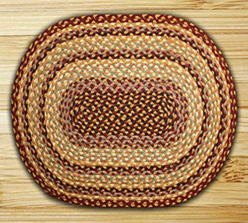 Earth Rugs Oval Rug, 3 x 5 , Burgundy Gray Cr me