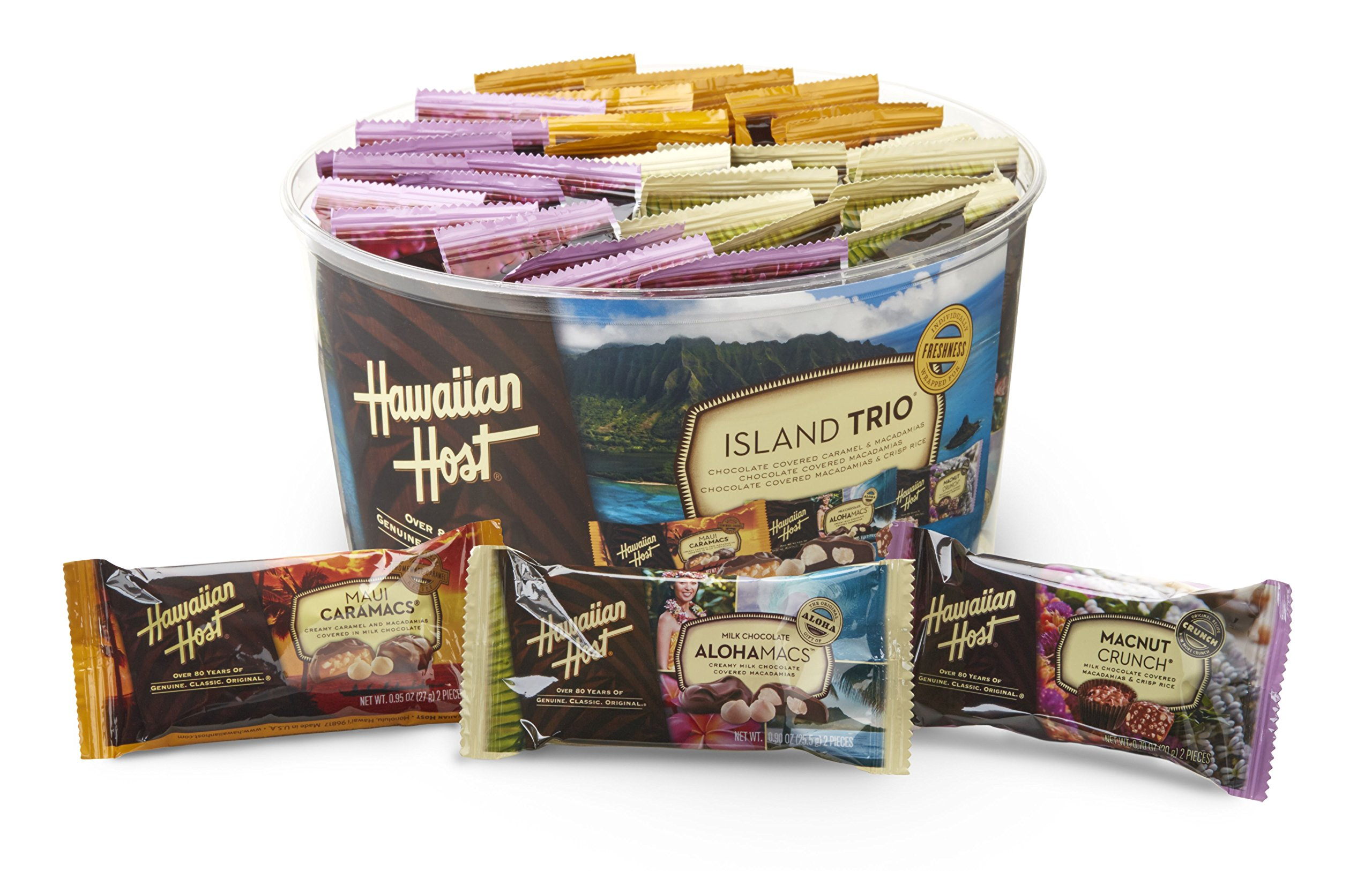 Hawaiian Host Island Trio Gift Pack 36 Count Chocolate and Macadamia