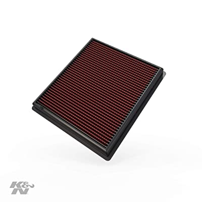 K&N Engine Air Filter: High Performance, Premium, Washable, Replacement Filter: 2013-2020 Chevy/Cadillac V6 (Impala, XTS), 33-2483: Automotive