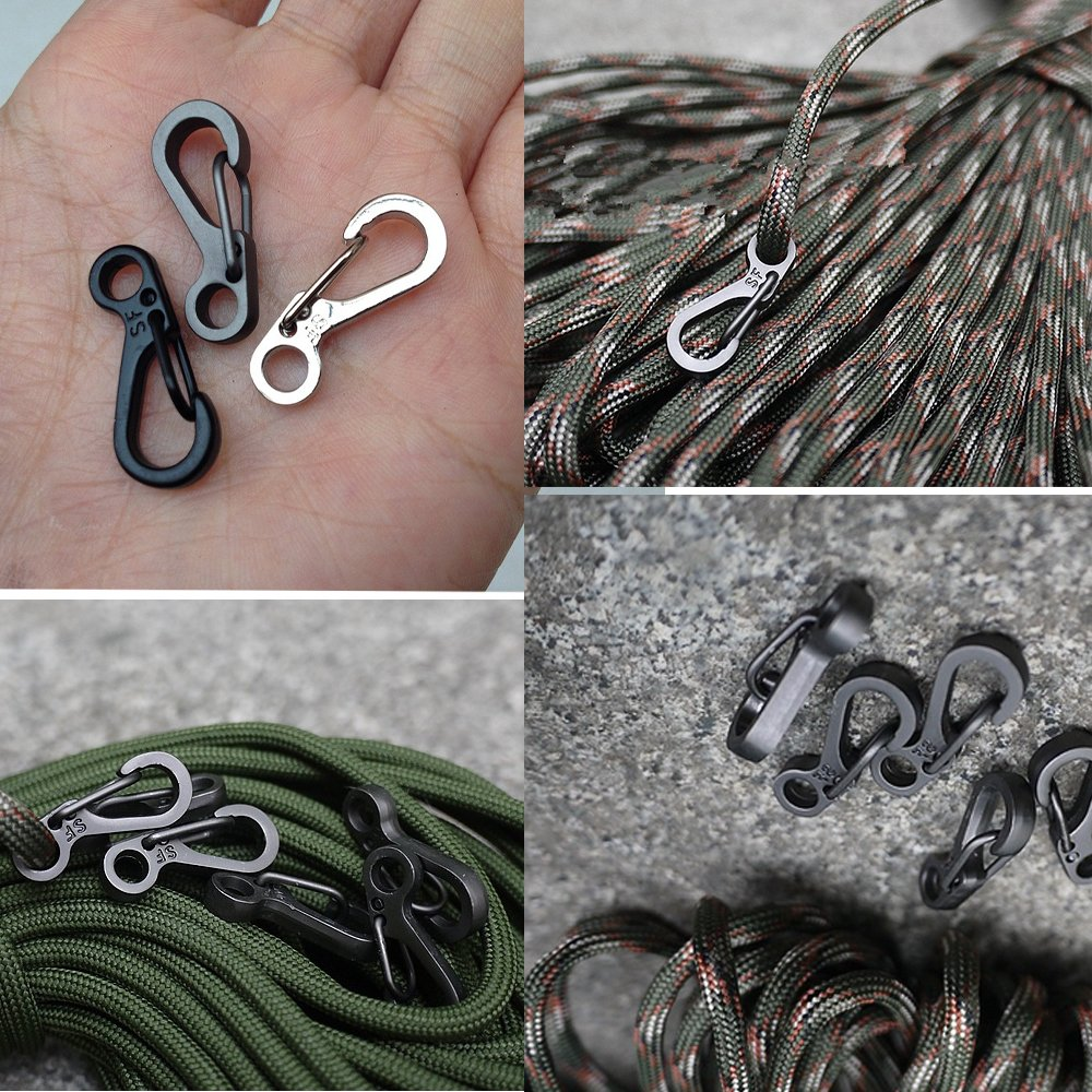 ShineIn EDC Mini SF Spring Backpack Clasps Climbing Carabiners Keychain Camping Bottle Hooks Survive Camp Hike Mountain Climb Gear 10 Pcs