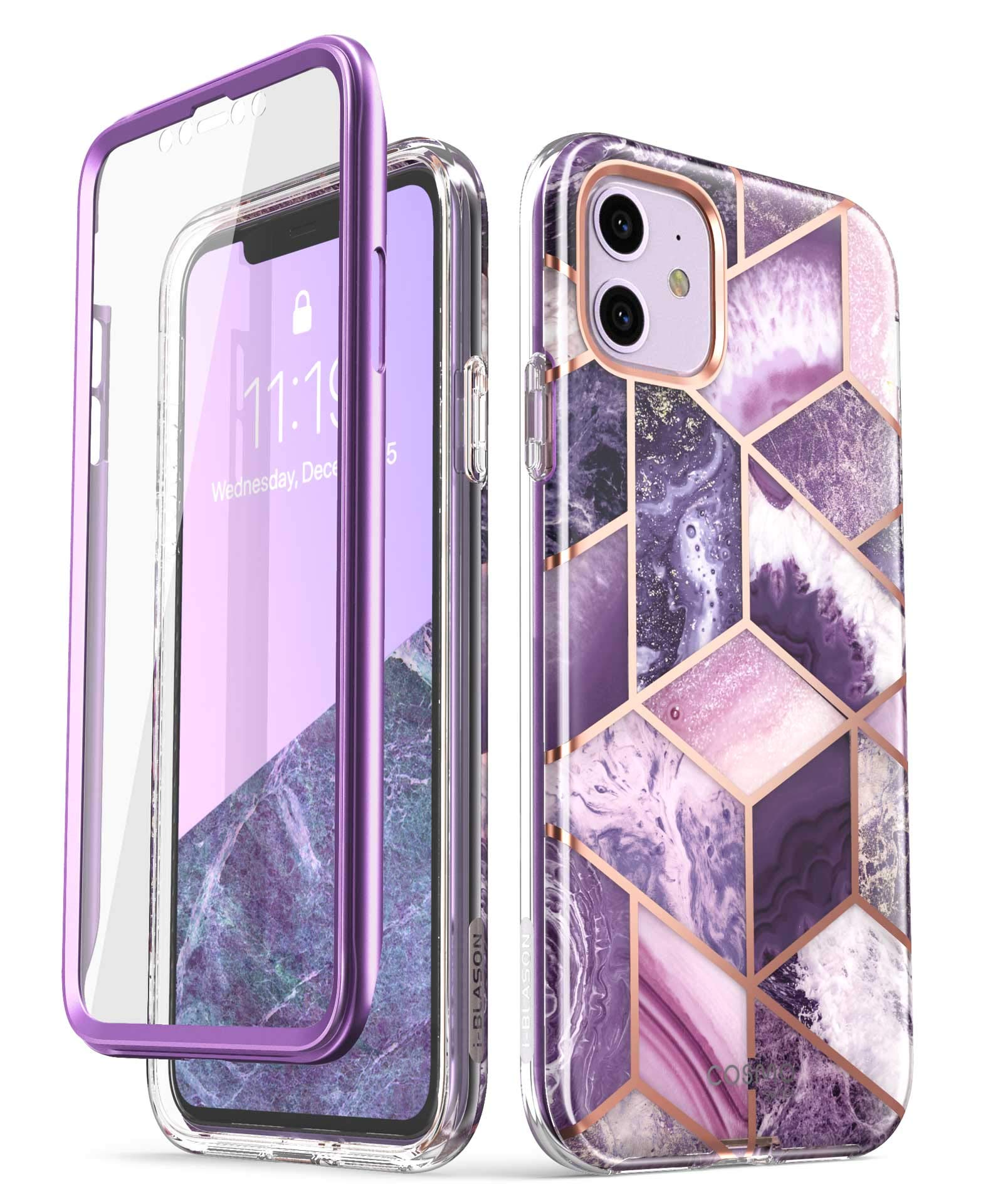i-Blason Cosmo Series Case for iPhone 11 (2019 Release), Slim Full-Body Stylish Protective Case with Built-in Screen Protector, Ameth, 6.1'' by i-Blason