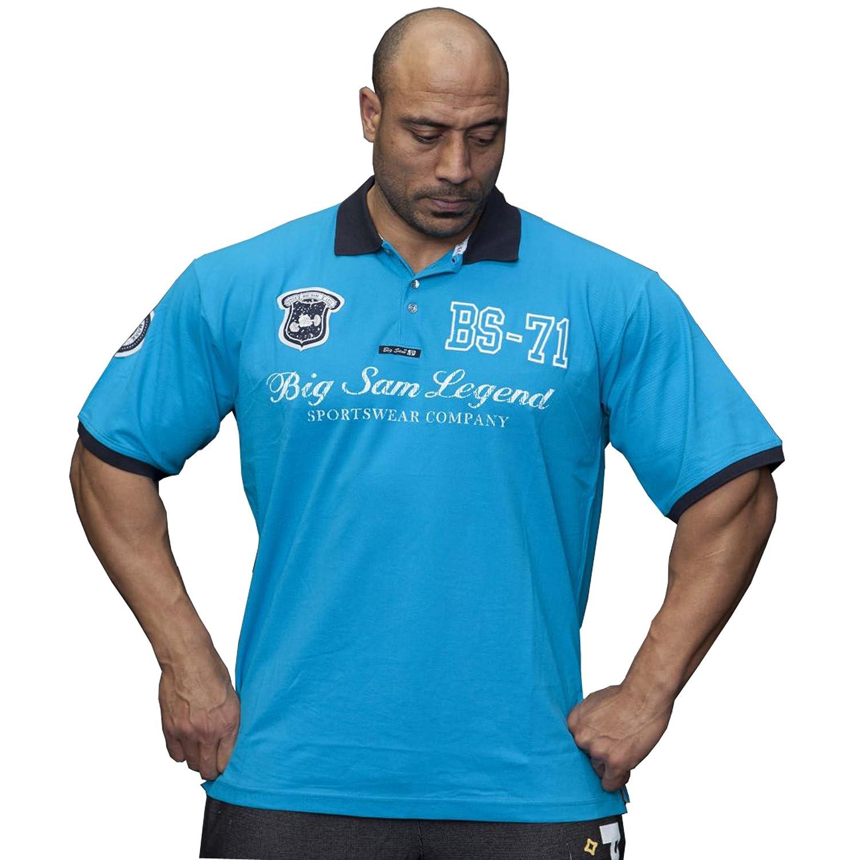 BIG SM EXTREME SPORTSWEAR Herren T-Shirt Stretch Shirt Bodybuilding Gym 2838