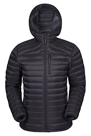 dcefdc40a9ac Mountain Warehouse Henry Mens Down Padded Winter Jacket - Lightweight  Overcoat