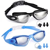 Deals on 2 Pack Veckle Swim Goggles Anti Fog UV Protection Lenses