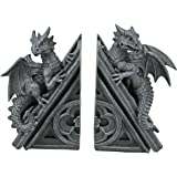 Design Toscano Gothic Castle Dragons Sculptural Bookends