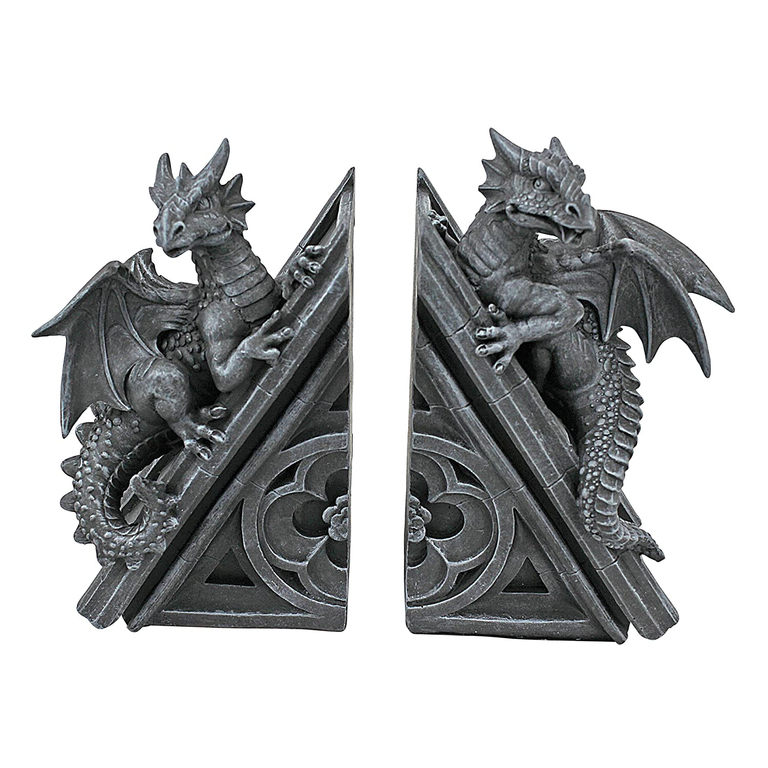 Amazon Design Toscano Gothic Castle Dragons Sculptural