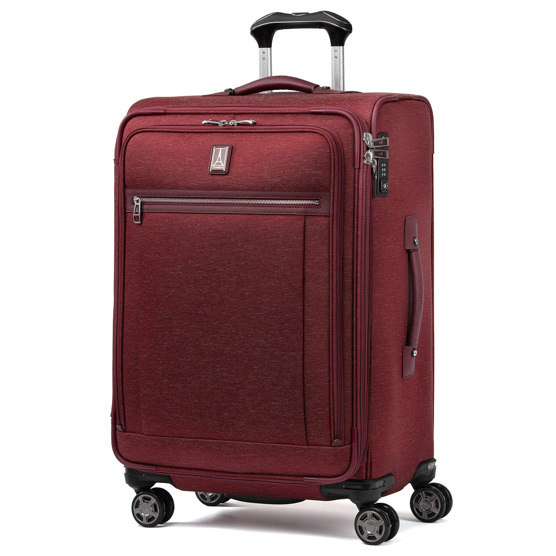 Travelpro Luggage Platinum Elite 25'' Expandable Spinner Suitcase w/Suiter, Bordeaux