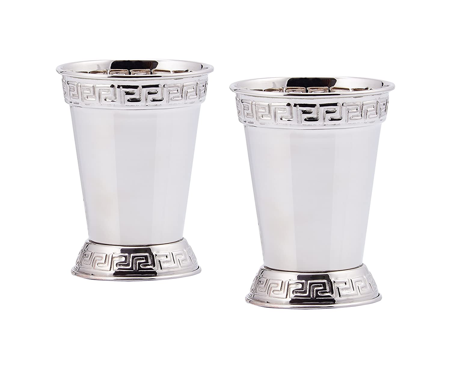 Old Dutch Mint Julep Cups (Set of 2), 12-Ounce, Nickel 1403