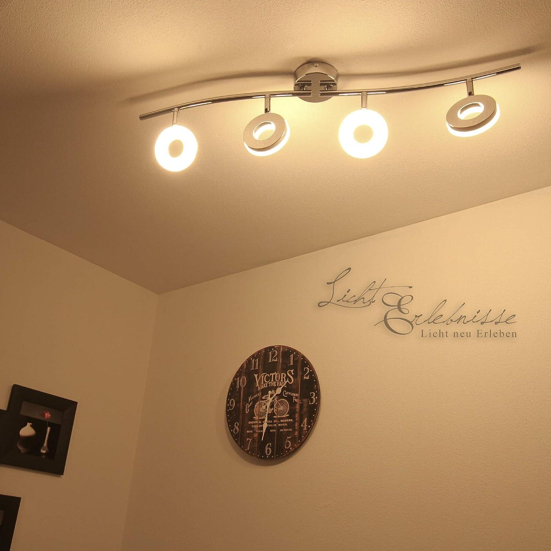 Reflector LED luz de techo 4 x 4 W techo orientable lámpara de techo: Amazon.es: Iluminación