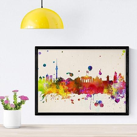 Nacnic Poster de Bilbao. Láminas e Ilustraciones de Ciudades, comunidades, y mapas de España. Tamaño A4 con Marco: Amazon.es: Hogar