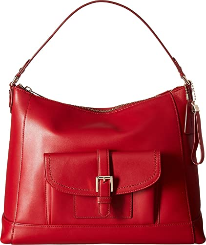Amazon.com  COACH Women s Charlie Leather Hobo Classic Red One Size  Shoes 84219de46834c