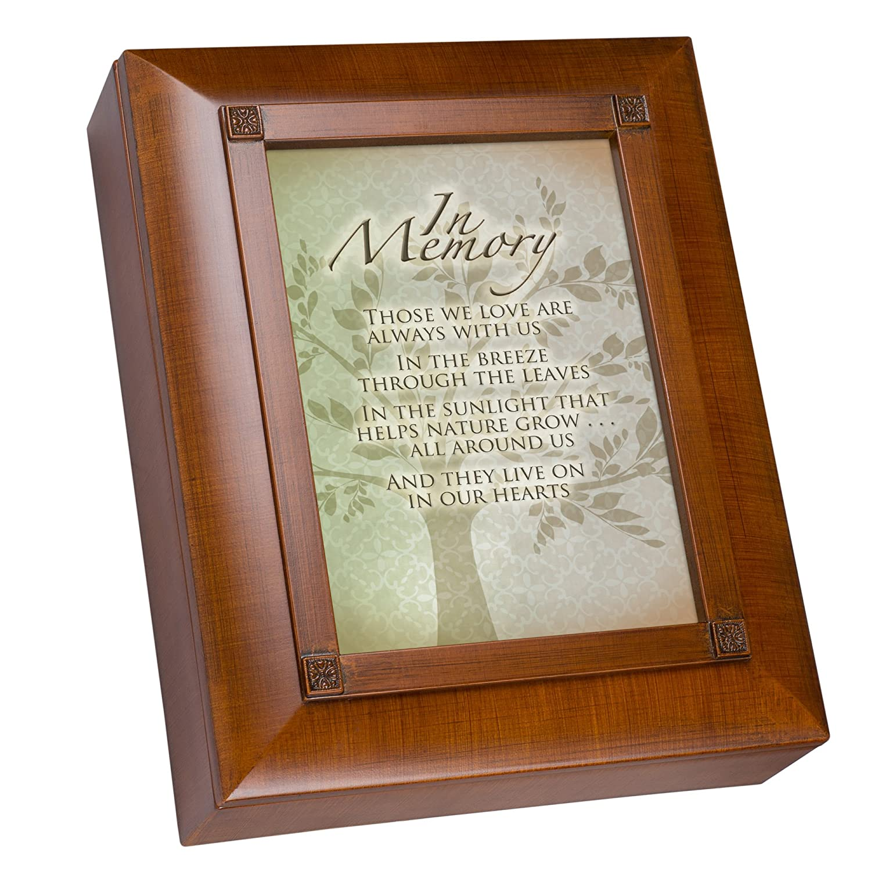 Cottage Garden in Memory Family Tree Woodgrain Remembrance Keepsake Box