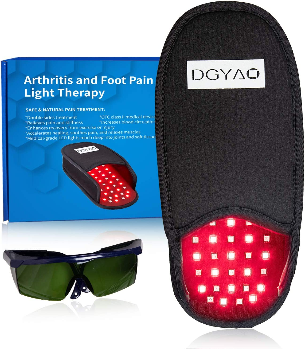 DGXINJUN Red Light Therapy Devices Near Infrared LED Pad 880 NM Foot Pain Relief Slipper for Feet Toes Instep Neuropathy Inflammation Arthritis Healing (2020 SMD Foot)