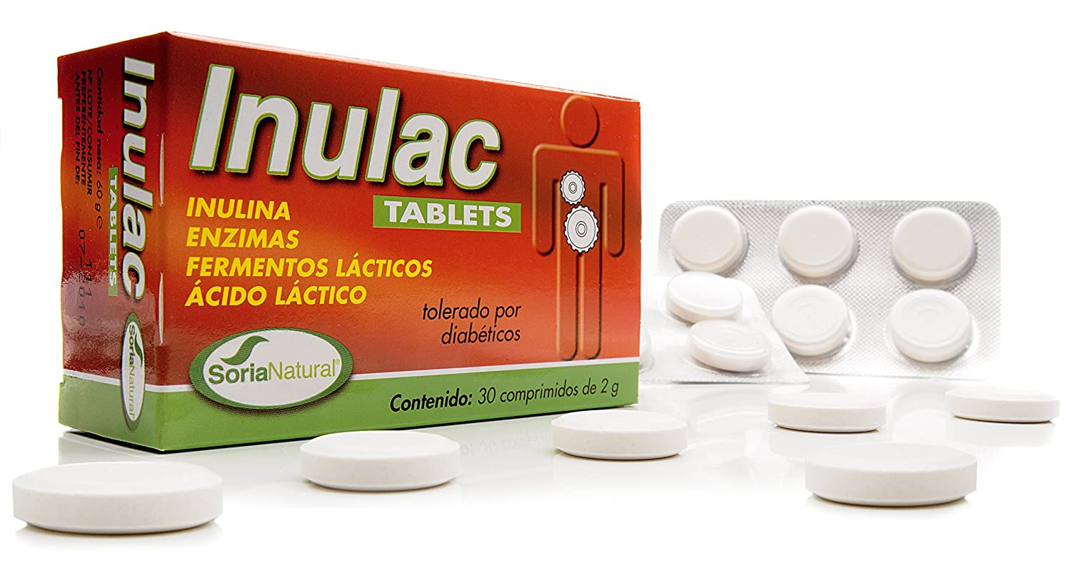 Soria Natural Inulac - 30 Tabletas: Amazon.es: Salud y ...
