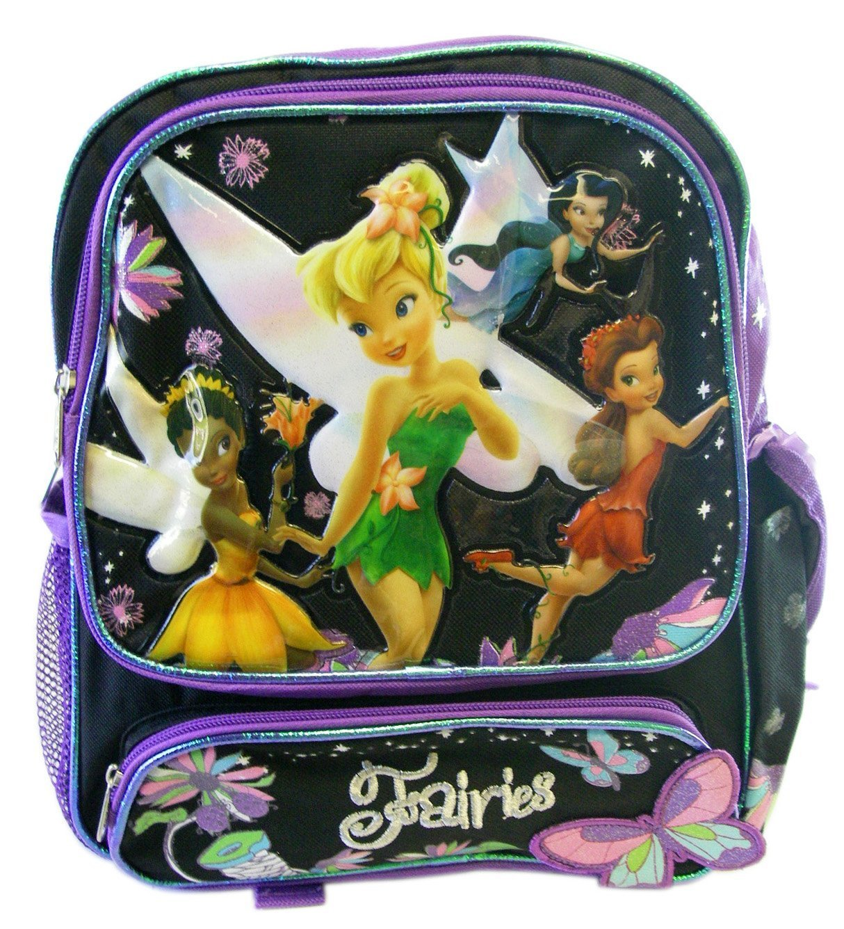 Disney Fairy Backpack  Kid size Tinker Bell Backpack (Black)