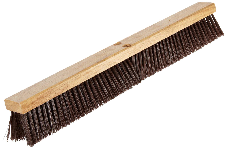 Nupla 68042 Hardwood Heavy Duty Hardwood Classic Broom Head with Bracket, 30'' Head Width, Natural