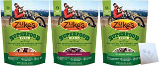 product image for Zuke's Grain-Free Superfood Dog Treats - 3 Flavors Total: Bold Berry, Great Green, and Vibrant Veggies - Plus Pet Paws Notepad (6oz Each, 3 Bags Total)