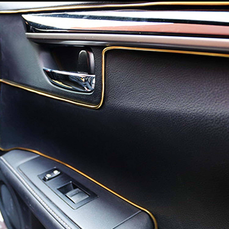 Blue Mrcartool Car Interior DIY Car Interior Moulding Trim,5M Flexible Trim for DIY Automobile Car Interior Exterior Moulding Trim Decorative Line Strip