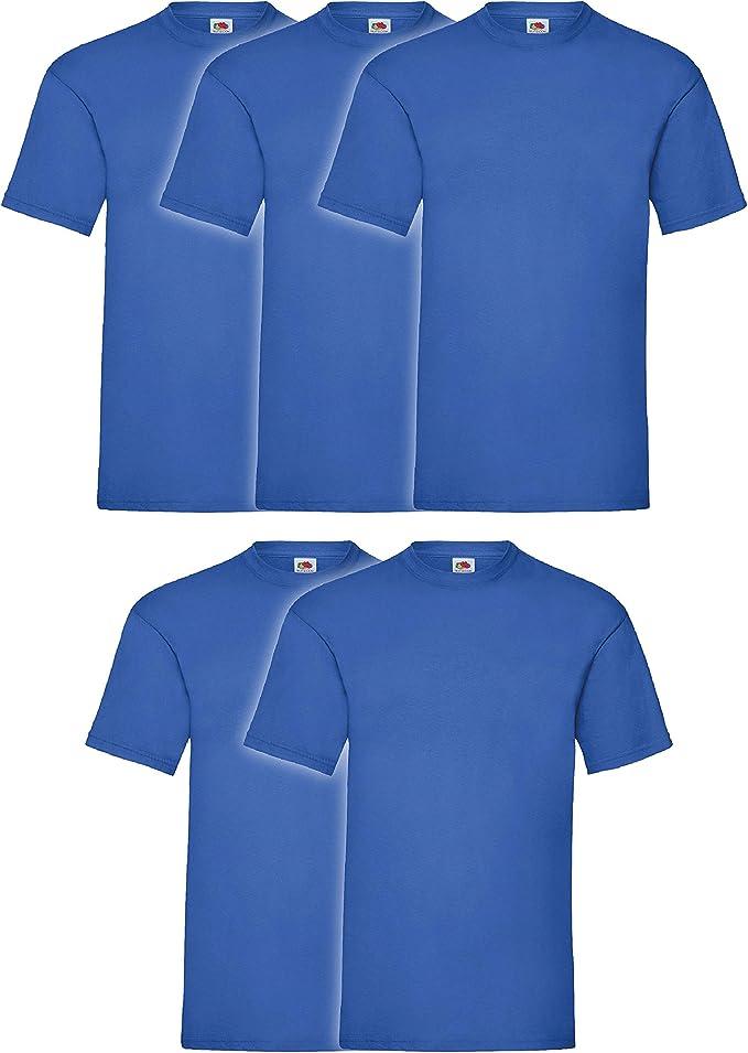 Fruit of the Loom - Camiseta para hombre (5 unidades): Amazon.es: Ropa y accesorios