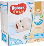 Huggies Ultimate Nappies, Boys, Size 2 (4-8kg) (Pack of 75)