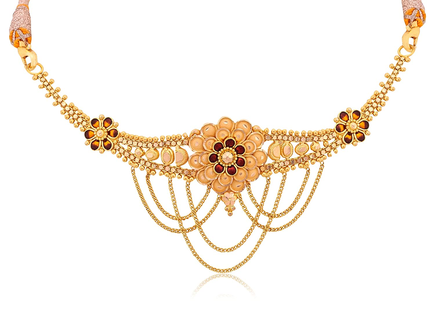 Buy Senco Gold 22k Yellow Gold Choker Necklace Online at Low ...