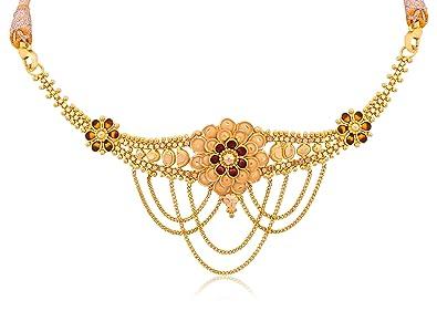 d6eb930a6 Buy Senco Gold 22k (916) Yellow Gold Choker Necklace for Women ...