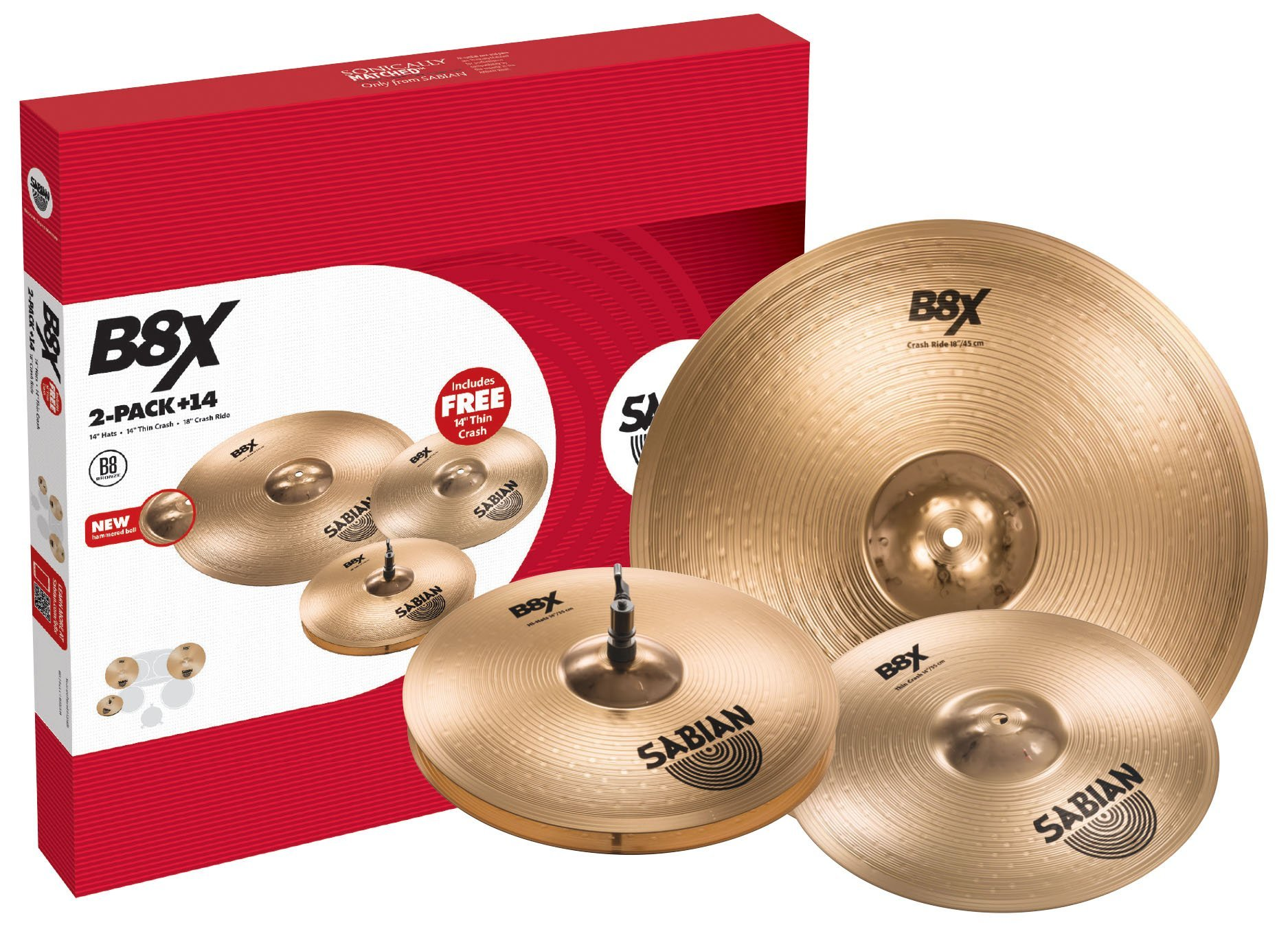Sabian Cymbal Variety Package, inch (45002X-14)