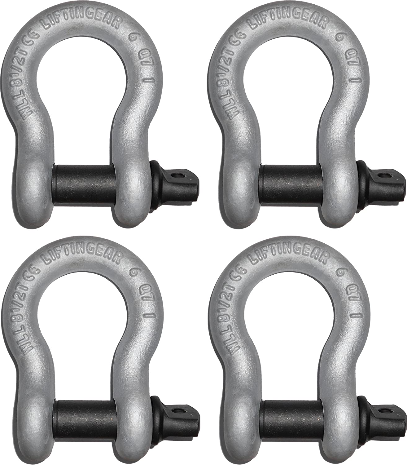 2 Ton Tested D Shackle with Screw Pin