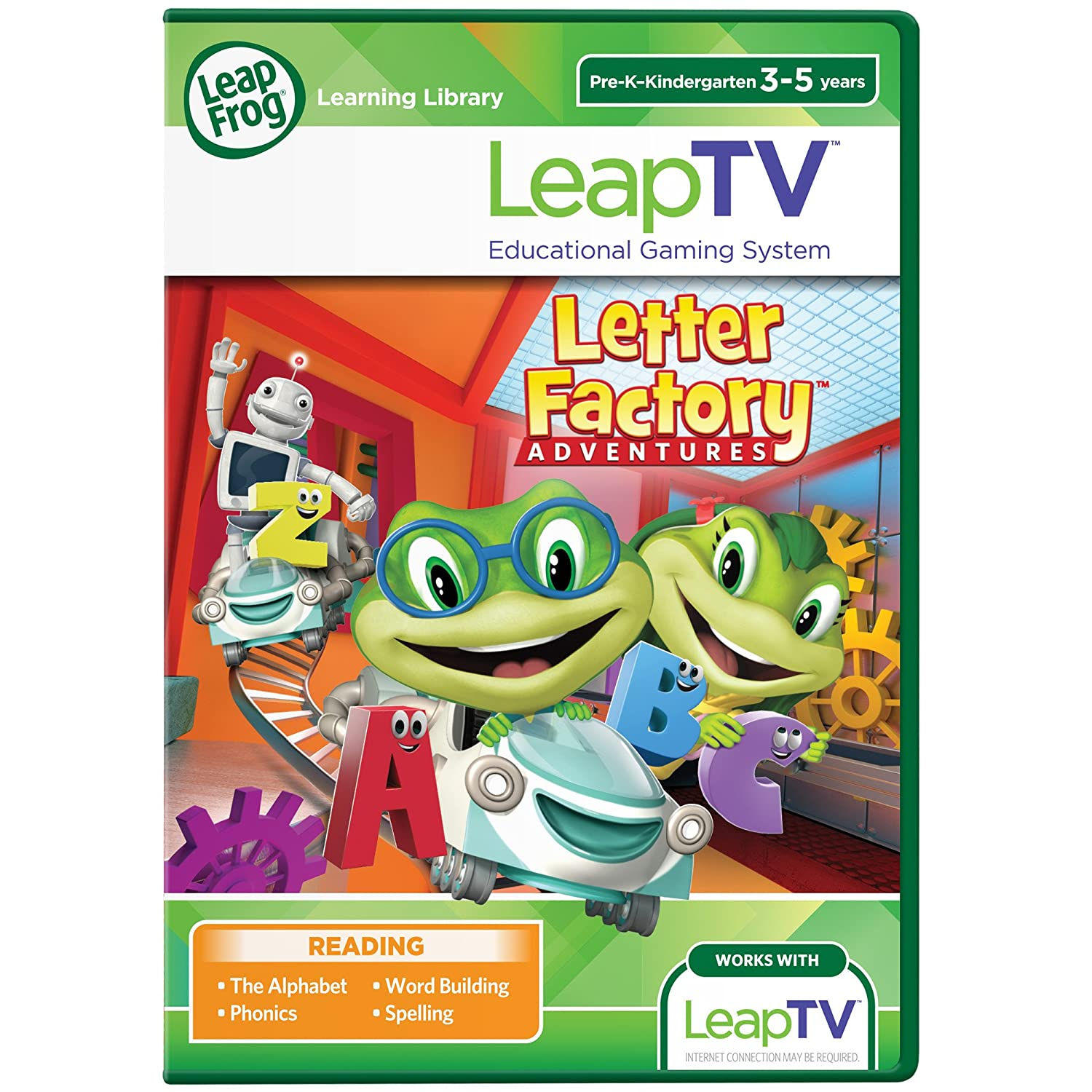 LeapFrog LeapTV Letter Factory Adventures Educational, Active Video Game 80-39201E