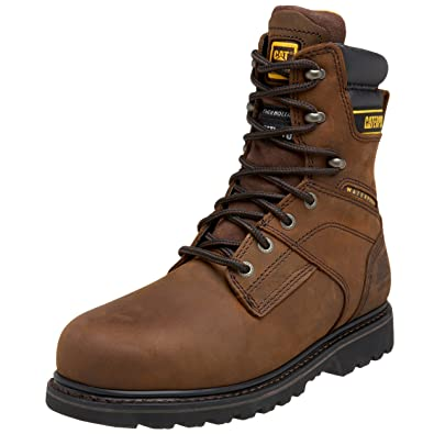 Amazoncom Caterpillar Mens Salvo 8 Waterproof Steel Toe Boot