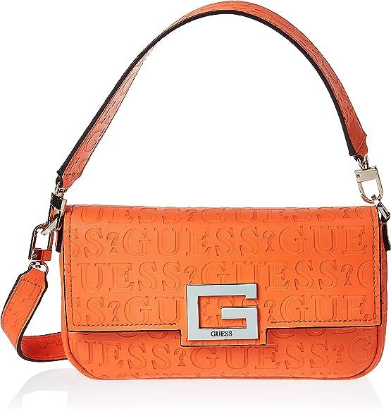 GUESS Brightside Shoulder Bag Orange: Amazon.co.uk