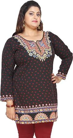 Womens Plus Size Indian Kurtis Tunic Top Printed India Clothes