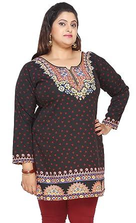 Amazon Maple Clothing Womens Plus Size Indian Kurtis Tunic Top