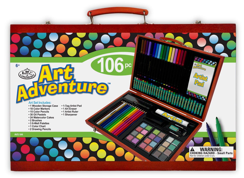 Royal /& Langnickel Set Art Adventure 100 Pi/èces Dimensions de la bo/îte 27 cm x 41 cm x 5 cm Multiple