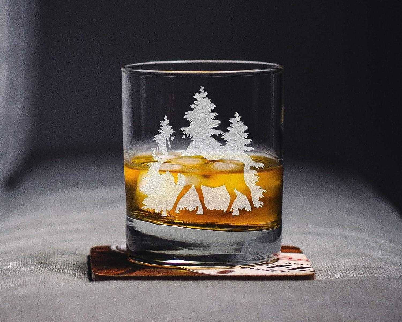 Moose Whiskey Glass Moose Rocks Glass Moose Glass Moose Gift Moose Wedding birthday party christmas graduation wine lover