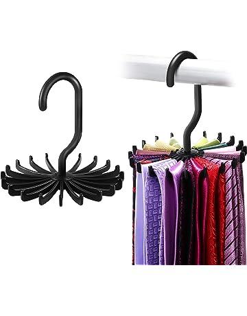 Negro Cinturones Bufanda Percha de Corbata Giratorio 360 /° para Armario Corbata de Lazo ipow Cadena Colgador para 2 Corbatas