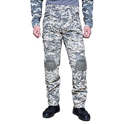2460d952 MAGCOMSEN Men's Tactical Military Army Combat Pants Camouflage Hunting  Trousers with Knee Pads