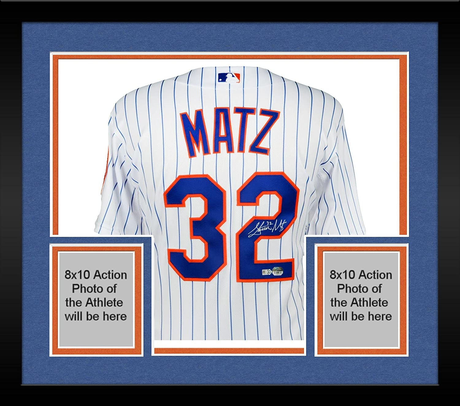 b8aa6bb40 Framed Steven Matz New York Mets Autographed White Authentic Jersey -  Fanatics Authentic Certified - Autographed