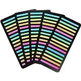 極細ふせん 5色 375枚×5セット 下の文字が透けて見える透明フィルムタイプ