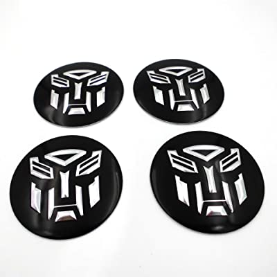 4 NEW TRANSFORMERS ROBOT 55 MM WHEEL CENTER CAP EMBLEMS STICKER DECAL: Automotive
