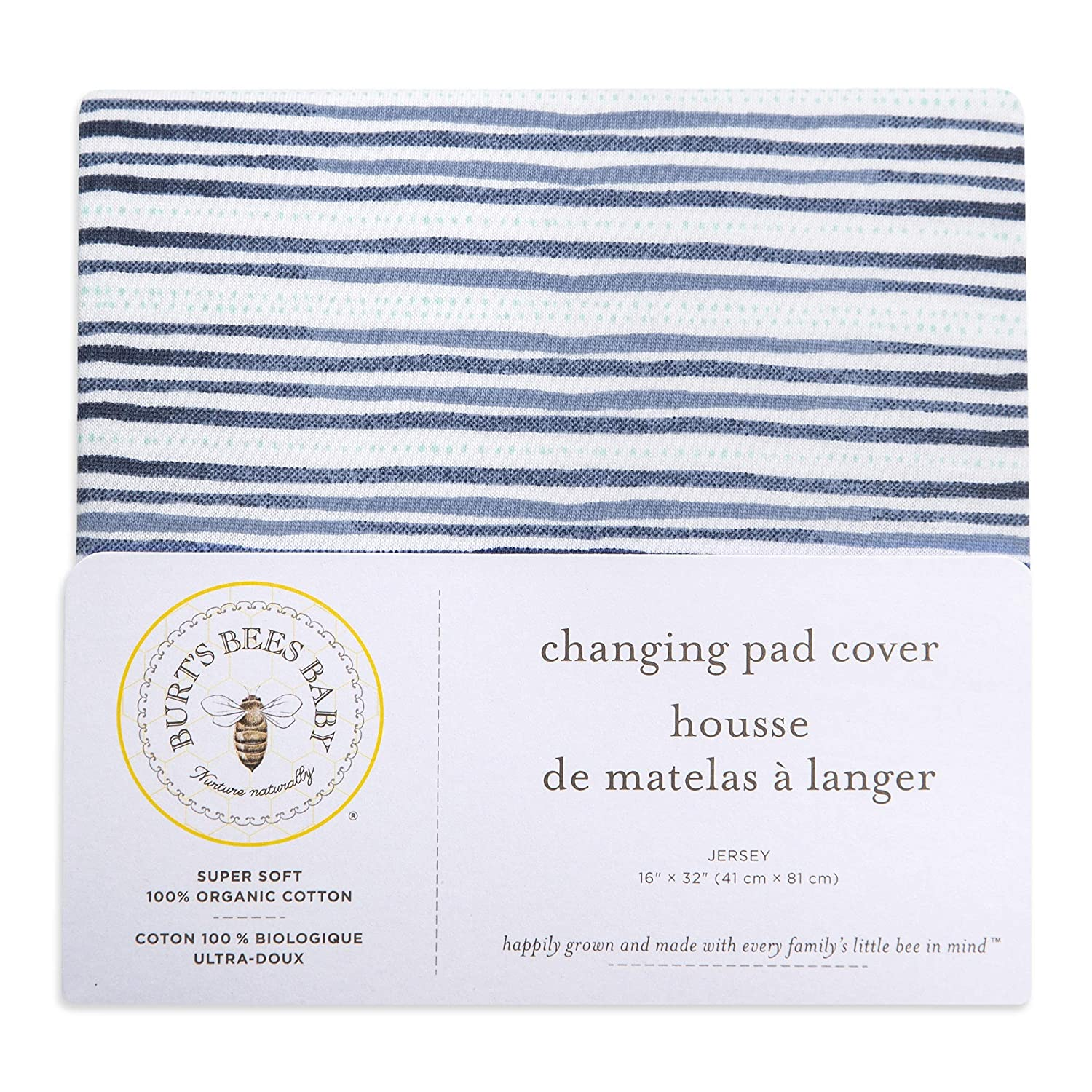 Heather Grey Thin Stripes Heather Grey Thin Stripes Burts Bees Baby Changing Pad Cover 100/% Organic Cotton Changing Pad Liner for Standard 16 x 32 Baby Changing Mats 100/% Organic Cotton Changing Pad Liner for Standard 16 x 32 Baby Changing Mats
