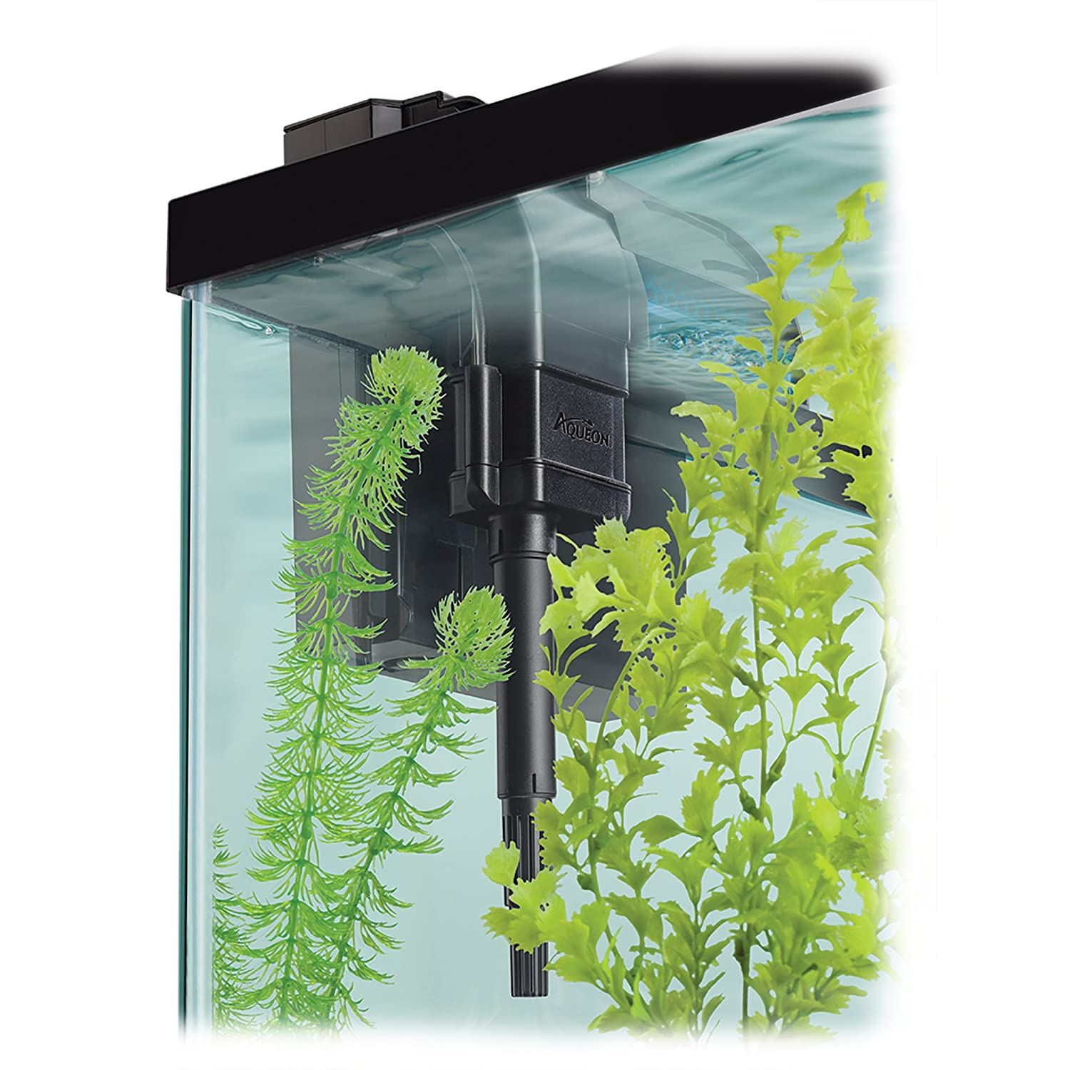 Aquarium power filter from 10 up 50 gallon quiet flow fish for Quiet fish tank filter