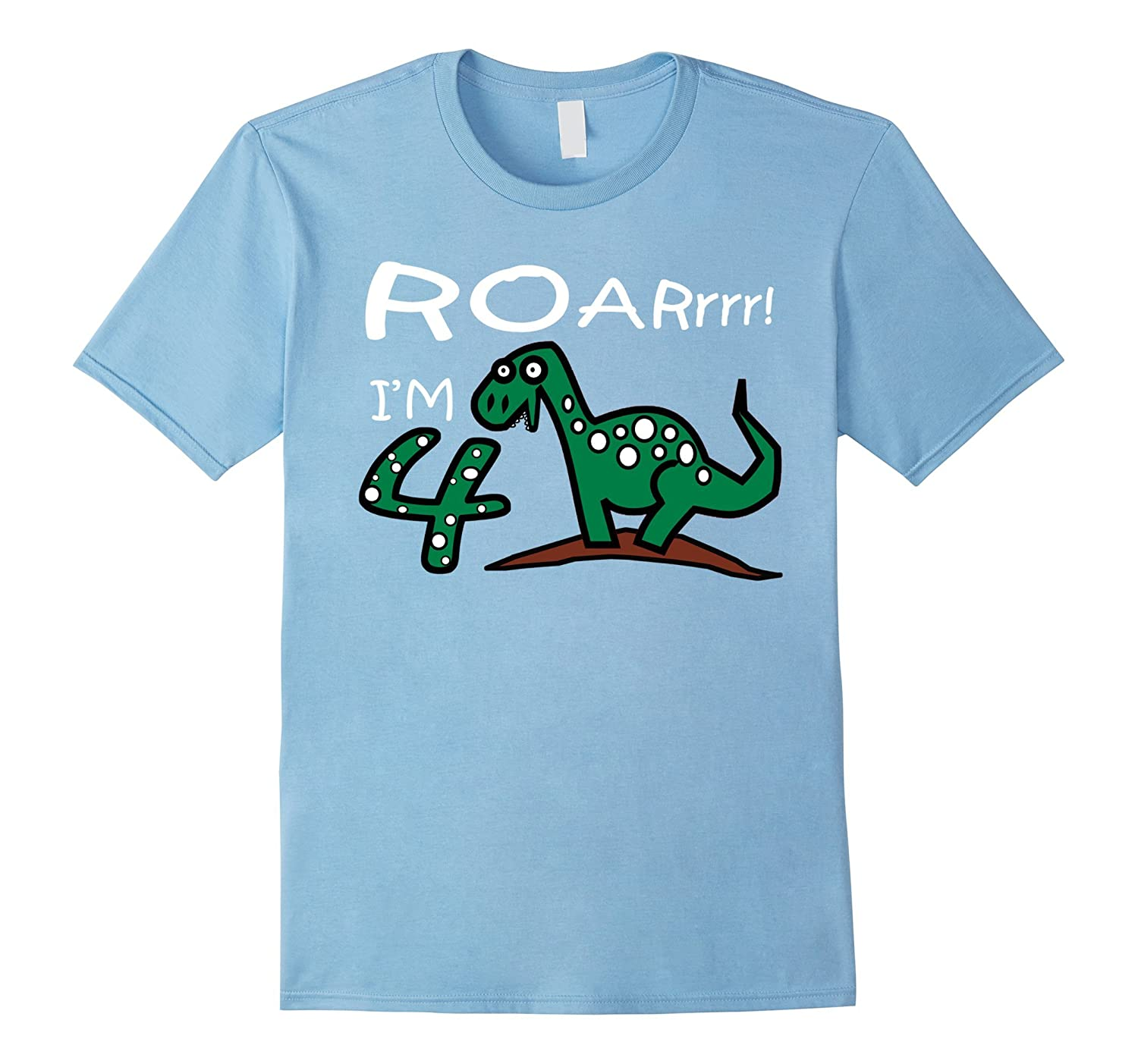098b7a54 Kids 4 Year Old Boy Birthday Gift Cute Dinosaur shirt-Vaci – Vaciuk