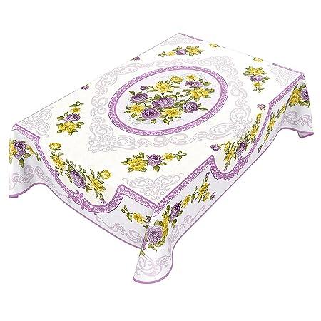 ANRO - Mantel de Hule, diseño de Flores y Ramo para mesas Redondas ...