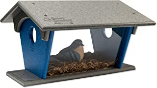 product image for DutchCrafters Poly Bluebird Feeder (Gray & Blue, Mounting Style - Hanging)